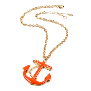 orange anchor necklace
