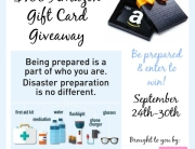 Be Prepared $100 Amazon Giftcard Giveaway- US 18+- Ends 9-30-15