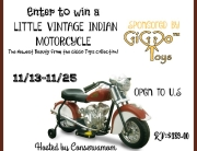 Win a Little Vintage Indian Motorcycle! Ends 11-25-15